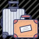 suitcase, luggage, baggage, travel icon