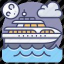 yacht, sail, boat, sailboat icon
