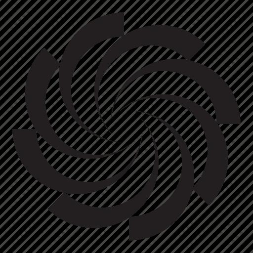 grid, noun, project, rotate, swirl, turn icon