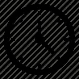 check, clock, grid, noun, project, time icon