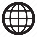 earth, globe, grid, map, noun, project, travel icon