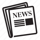 grid, letter, news, noun, project icon