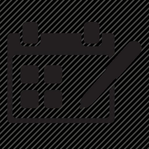 calendar, grid, memo, noun, project, schedule icon