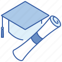 education, knowledge, scholarships, study icon