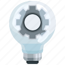 bulb, electricity, electronics, gear, idea, invention, light icon