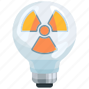 bulb, electricity, energy, light, lighting, nuclear, power icon