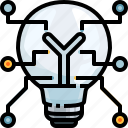 bulb, collaboration, electronics, idea, invention, light, team icon