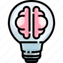 brainstorm, brainstorming, creative, idea, light, strategy, think icon