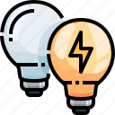 bulb, electricity, electronics, idea, invention, light, technology