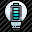 battery, bulb, electricity, energy, full, illumination, light