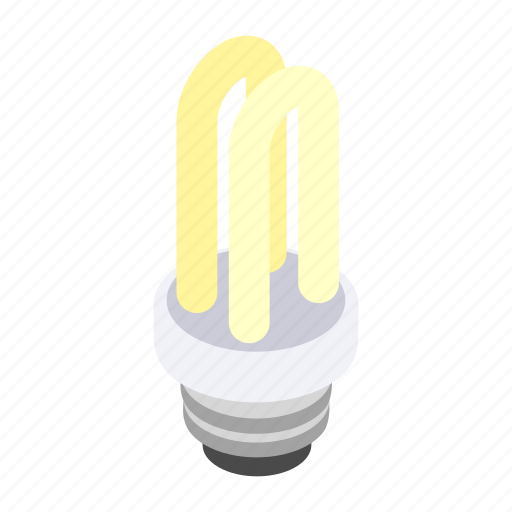 bulb, electric, energy, idea, isometric, power, technology icon