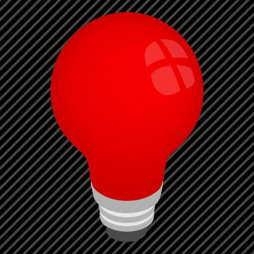 bulb, concept, electricity, energy, idea, isometric, light icon
