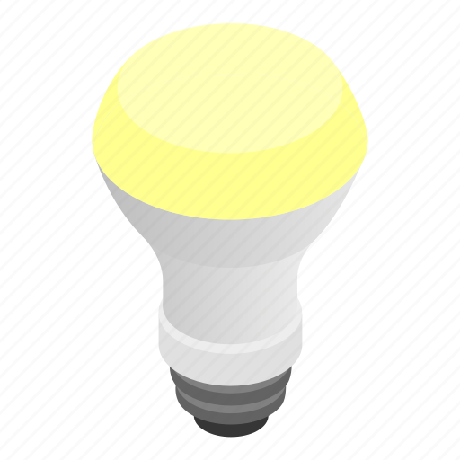 bulb, equipment, isometric, lamp, led, light, technology icon