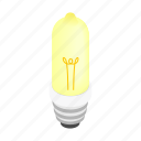 bulb, concept, electricity, energy, idea, isometric, light icon