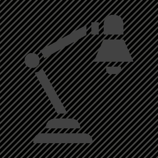 desk, interior, lamp, light icon