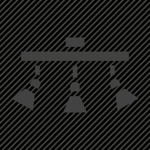 interior, lamp, lighting, track icon