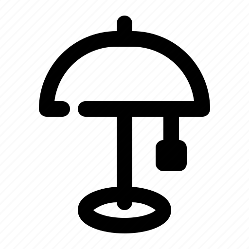 glow, lamp, table icon