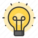 bulb, glow, light, of, shine, source icon