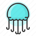 glow, jelly fish, light, of, plankton, shine, source icon