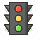 glow, light, of, shine, source, traffic lights icon