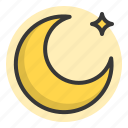 glow, light, lunar, moon, night, of, shine, source icon