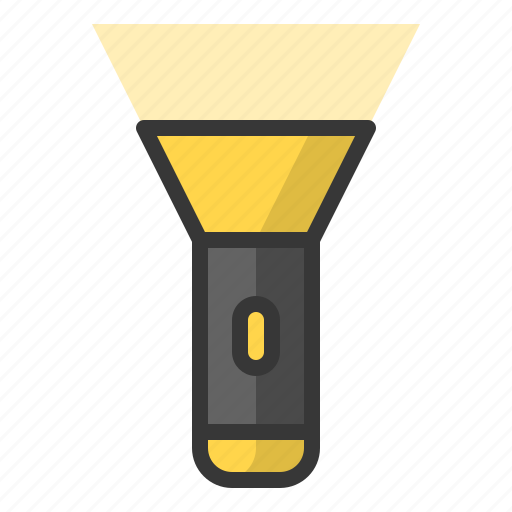 flashlight, glow, light, of, shine, source, torch icon