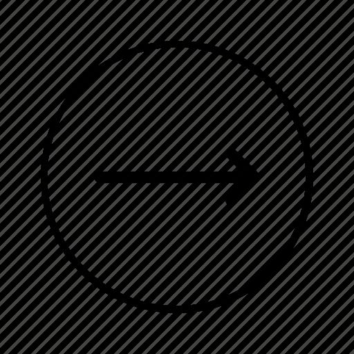 arrow, circle, forward, move, next, right, round icon