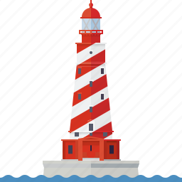 beacon, building, lake michigan, lighthouse, nautical, safety, white shoal lighthouse icon