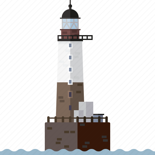 ar-men lighthouse, beacon, building, lighthouse, nautical, north sea, safety icon