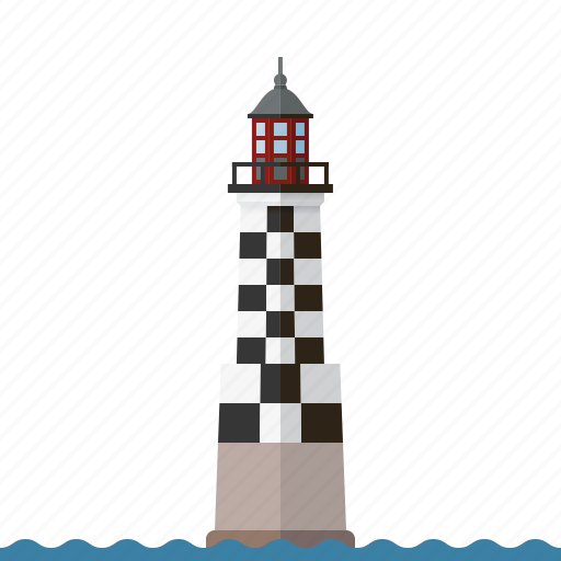 beacon, building, lighthouse, nautical, north sea, perdrix lighthouse, safety icon