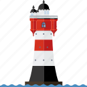 beacon, germany, landmark, lighthouse, nautical, north sea, roter sand icon