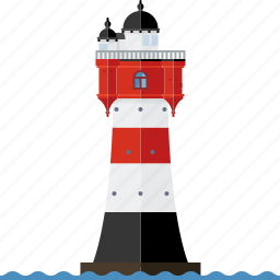 beacon, germany, landmark, lighthouse, nautical, north sea, roter sand icon