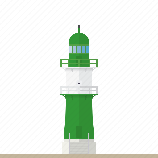 baltic sea, beacon, germany, landmark, lighthouse, nautical, warnemunde icon
