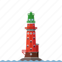 beacon, germany, hohe weg, lighthouse, nautical, north sea, weser river icon