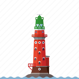 beacon, germany, hohe weg, lighthouse, nautical, north sea, weser river icon