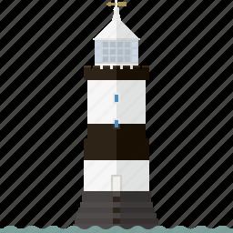 beacon, irish sea, landmark, lighthouse, nautical, penmon point, wales icon
