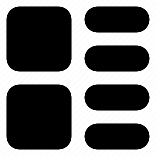 gallery, grid, interface, layout, lines, list icon