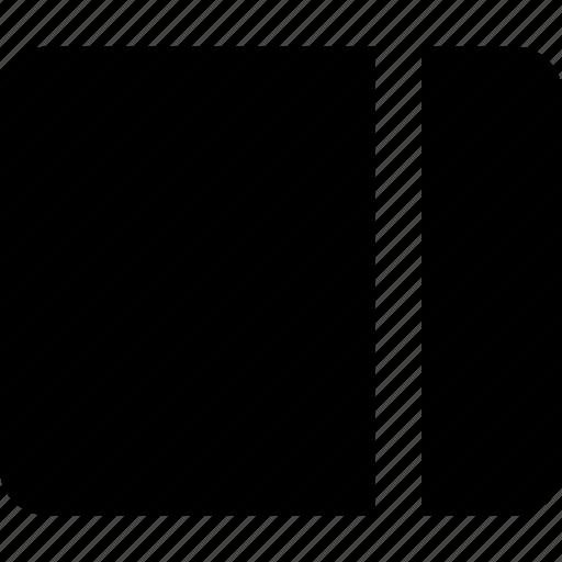 dashboard, interface, layout, right, sidebar icon