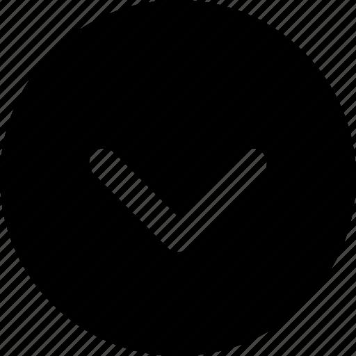 arrow, chevron, circle, down, next icon