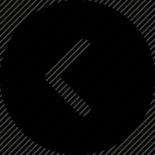arrow, back, chevron, circle, left icon