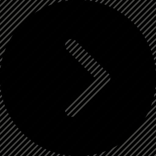 arrow, chevron, circle, forward, right icon