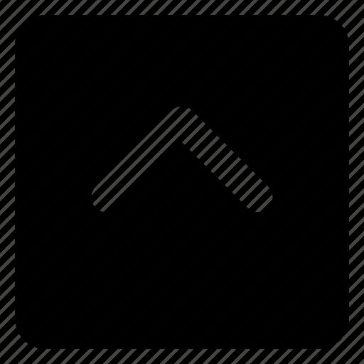 arrow, chevron, previous, square, up icon