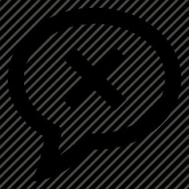 bubble, chat, comment, error, message, talk icon