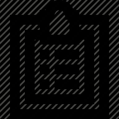 clipboard, copy, list, paste icon