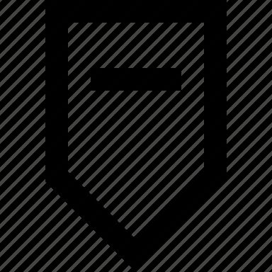 arrow, decrease, down, minus, tab icon
