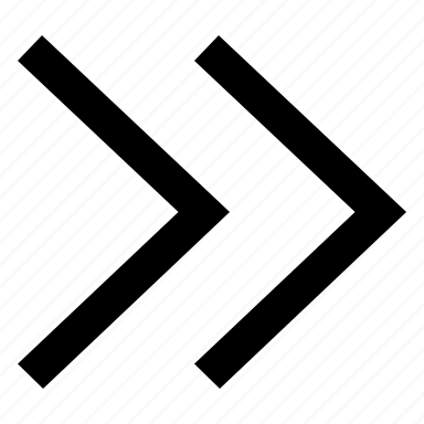 arrows, chevron, double, right icon