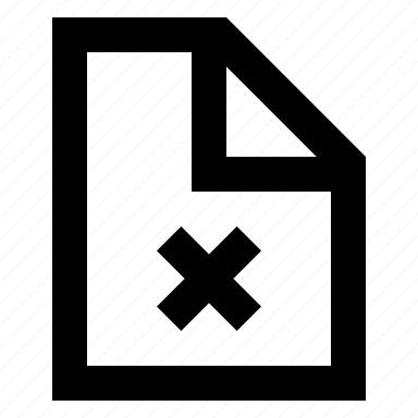 document, error, file, paper icon