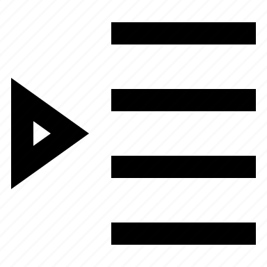 align, indent, left icon