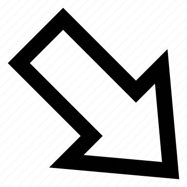 arrow, lower, right icon