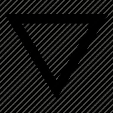 arrow, down, next icon